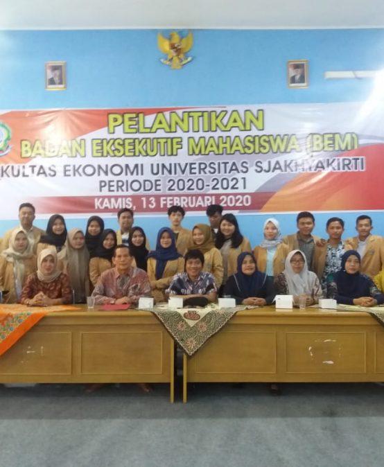 Pelantikan Pengurus Badan Eksekutif Mahasiswa (BEM) FESTI Periode 2020 – 2021