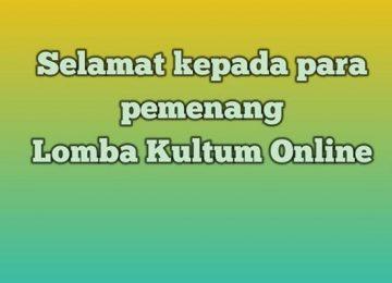Lomba Kultum Online Tingkat Pelajar Sekota Palembang