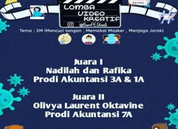 Lomba Video Kreatif Mahasiswa FESTI