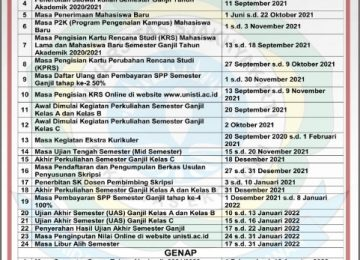 Kalender Akademik Fakultas Ekonomi