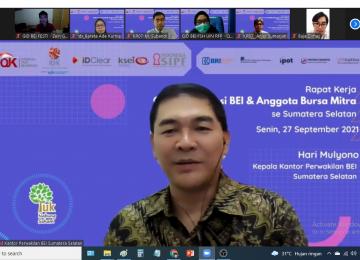 Rapat Kerja GI BEI & Anggota Bursa Mitra se-Sumatera Selatan